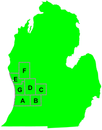 Map of the 7 studied counties